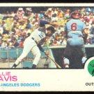 LOS ANGELES DODGERS WILLIE DAVIS 1973 TOPPS # 35 G/VG