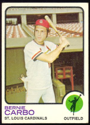 ST LOUIS CARDINALS BERNIE CARBO 1973 TOPPS # 171 VG