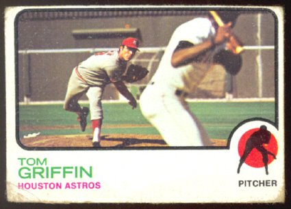 HOUSTON ASTROS TOM GRIFFIN 1973 TOPPS # 468 G