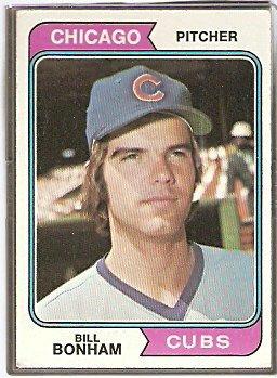 CHICAGO CUBS BILL BONHAM 1974 TOPPS # 528 VG+