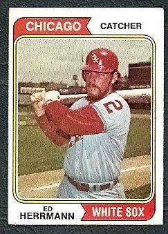 CHICAGO WHITE SOX ED HERRMANN 1974 TOPPS # 438 VG