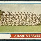 ATLANTA BRAVES TEAM CARD 1974 TOPPS # 483 F/G