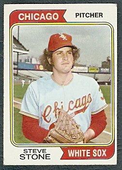 CHICAGO WHITE SOX STEVE STONE 1974 TOPPS # 486 VG