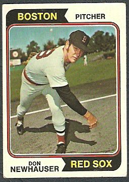 BOSTON RED SOX DON NEWHAUSER 1974 TOPPS # 33 VG+