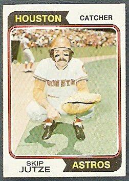 HOUSTON ASTROS SKIP JUTZE 1974 TOPPS # 328 EX MT