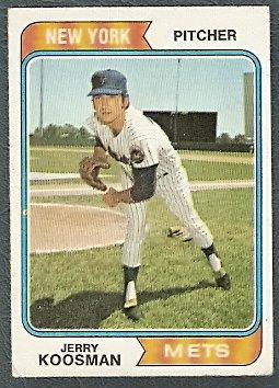 NEW YORK METS JERRY KOOSMAN 1974 TOPPS # 356 VG