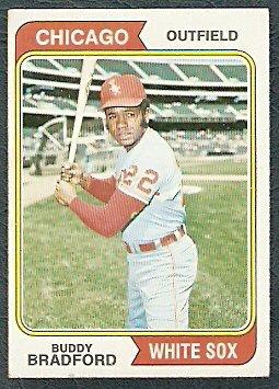 CHICAGO WHITE SOX BUDDY BRADFORD 1974 TOPPS # 357 EX