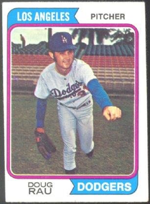 LOS ANGELES DODGERS DOUG RAU 1974 TOPPS # 64 VG/EX