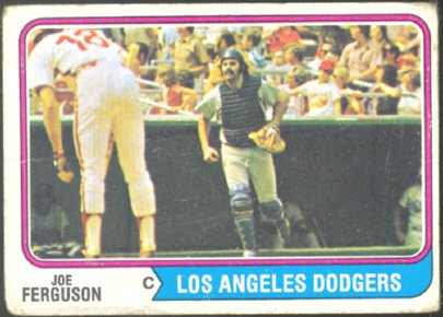 LOS ANGELES DODGERS JOE FERGUSON 1974 TOPPS # 86 G