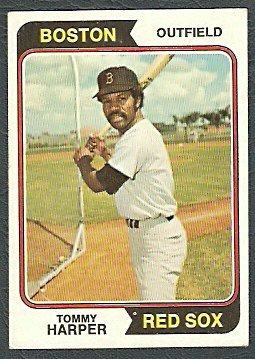BOSTON RED SOX TOMMY HARPER 1974 TOPPS # 325 EX