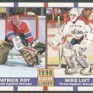 CANADIENS PATRICK ROY CAPITALS MIKE LIUT GAA 90/91 SCORE 354