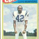 BALTIMORE COLTS LLOYD MUMPHORD 1977 TOPPS # 153 VG
