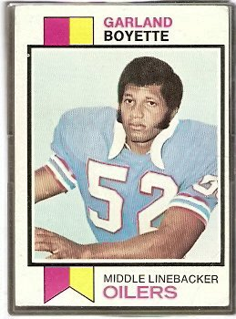 HOUSTON OILERS GARLAND BOYETTE 1973 TOPPS # 121 VG
