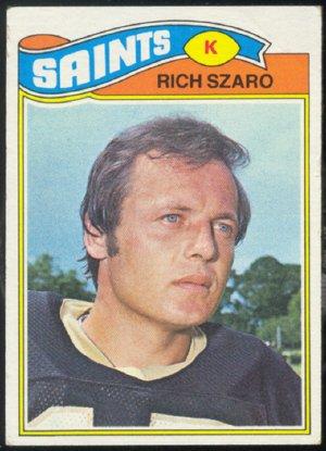 NEW ORLEANS SAINTS RICH SZARO 1977 TOPPS # 182 VG/EX