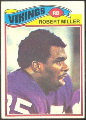 MINNESOTA VIKINGS ROBERT MILLER 1977 TOPPS # 191 VG