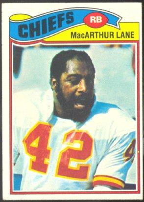KANSAS CITY CHIEFS MacARTHUR LANE 1977 TOPPS # 273 VG