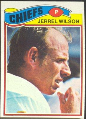 KANSAS CITY CHIEFS JERREL WILSON 1977 TOPPS # 362 EX MT+