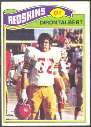 WASHINGTON REDSKINS DIRON TALBERT 1977 TOPPS # 369 VG