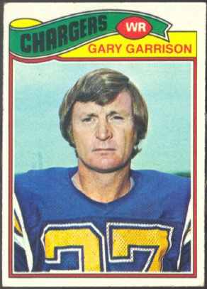 SAN DIEGO CHARGERS GARY GARRISON 1977 TOPPS # 475 EX+