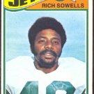 NEW YORK JETS RICH SOWELLS 1977 TOPPS # 488 VG/EX