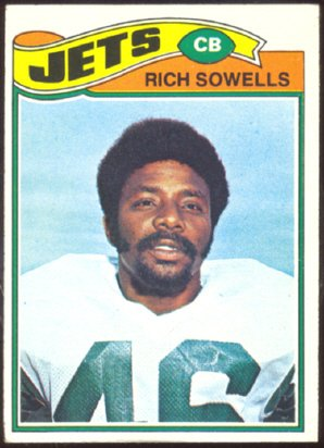 NEW YORK JETS RICH SOWELLS 1977 TOPPS # 488 VG/EX