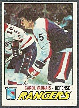 NEW YORK RANGERS CAROL VADNAIS 77/78 TOPPS # 154 VG