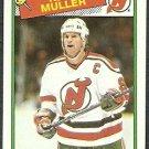 NEW JERSEY DEVILS KIRK MULLER 88/89 TOPPS # 84 NR MT