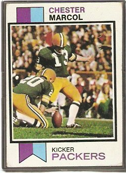 GREEN BAY PACKERS CHESTER MARCOL 1973 TOPPS # 180 VG/EX