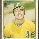 OAKLAND ATHLETICS DAVE HAMILTON 1974 TOPPS # 633 Fair