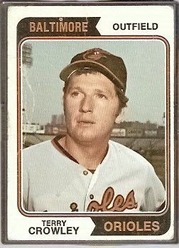BALTIMORE ORIOLES TERRY CROWLEY 1974 TOPPS # 648 F/G