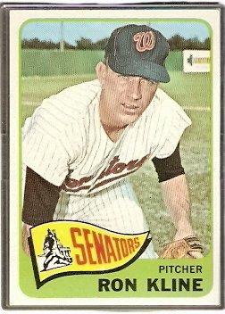Washington Senators Ron Kline 1965 Topps Baseball Card # 56 em/nm