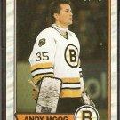 BOSTON BRUINS ANDY MOOG 1989 OPC O PEE CHEE # 160