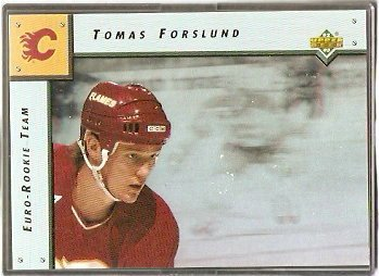DETROIT RED WINGS TOMAS FORSLUND 92/93 UPPER DECK EURO ROOKIE TEAM # ERT6