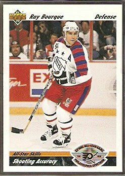 BOSTON BRUINS RAY BOURQUE 91/92 UPPER DECK # 633