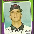 CLEVELAND INDIANS MILT WILCOX 1975 TOPPS # 14 VG