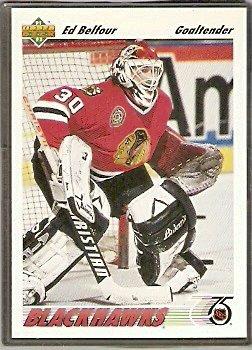 Chicago Black Hawks Ed Belfour 1991 Upper Deck Hockey Card # 164
