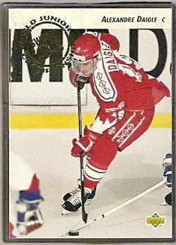 Alexandre Daigle RC Rookie Card 1992 Upper Deck Hockey Card # 587