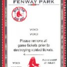 Boston Red Sox David Ortiz Photo 2006 Voided Season Ticket