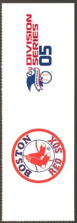 BOSTON RED SOX 2005 ALDS FILLER TICKET CHICAGO WHITE SOX