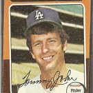 LOS ANGELES DODGERS TOMMY JOHN 1975 TOPPS # 47 VG