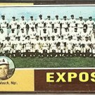 MONTREAL EXPOS TEAM CARD 1975 TOPPS # 101 EX MARKED CL