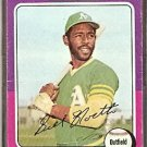 OAKLAND ATHLETICS BILL NORTH 1975 TOPPS # 121 F/G
