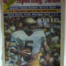 NOTRE DAME FIGHTING IRISH BLAIR KIEL 8/29/83 SPORTING NEWS PINUP PHOTO