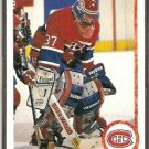 MONTREAL CANADIENS J.C. BERGERON ROOKIE CARD RC 90/91 UPPER DECK # 408