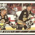 BOSTON BRUINS ADAM OATES LL w/ RAY BOURQUE 1993 TOPPS PREMIER # 74