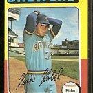 Milwaukee Brewers Kevin Kobel 1975 Topps Baseball Card 337 ex/em