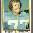 San Diego Chargers Ron East 1974 Topps Football Card 72 ex