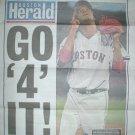 2004 BOSTON RED SOX PEDRO MARTINEZ GO 4 IT FRONT PAGE