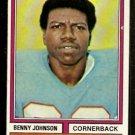 HOUSTON OILERS BENNY JOHNSON 1974 TOPPS # 174 EX