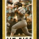 BOSTON RED SOX JIM RICE 1987 TOPPS MINI LEAGUE LEADER # 44